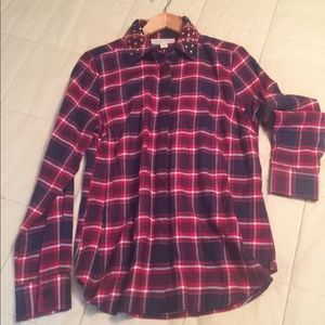 MICHAEL Michael Kors Plaid Blouse